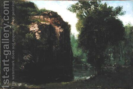 The Silent River, 1868 by Gustave Courbet - Reproduction Oil Painting