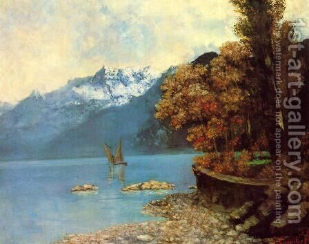 Lake Leman, 1874 by Gustave Courbet - Reproduction Oil Painting