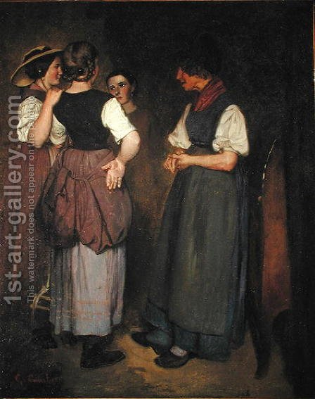 The Stories of Grandmother Salvan, 1847 by Gustave Courbet - Reproduction Oil Painting