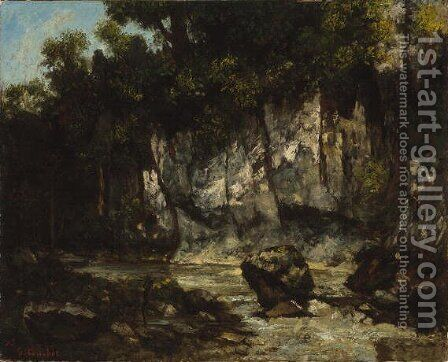 Landscape with Stag, 1873 by Gustave Courbet - Reproduction Oil Painting