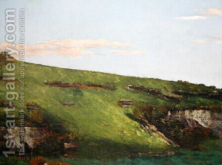 Wiesenhang near Ornans, 1862 by Gustave Courbet - Reproduction Oil Painting