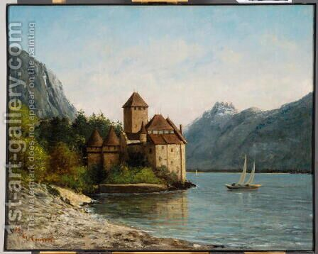 The Castle of Chillon, Evening, c.1872 by Gustave Courbet - Reproduction Oil Painting