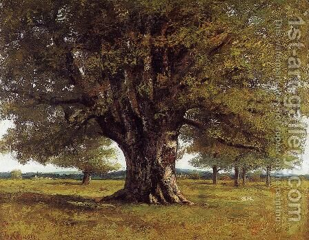 The Oak of Flagey, called Vercingetorix by Gustave Courbet - Reproduction Oil Painting