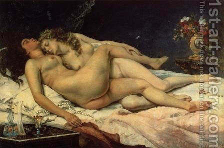 Le Sommeil, 1866 by Gustave Courbet - Reproduction Oil Painting
