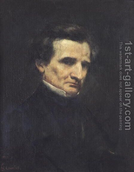 Hector Berlioz (1803-69) 1850 by Gustave Courbet - Reproduction Oil Painting