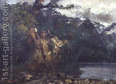 Swiss Landscape by Gustave Courbet - Reproduction Oil Painting