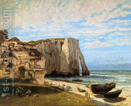 The Cliffs at Etretat after the storm, 1870 by Gustave Courbet - Reproduction Oil Painting