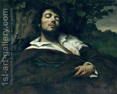 The Wounded Man by Gustave Courbet - Reproduction Oil Painting
