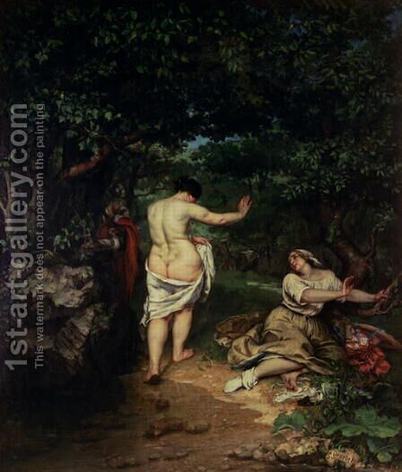Les Baigneuses, 1853 by Gustave Courbet - Reproduction Oil Painting