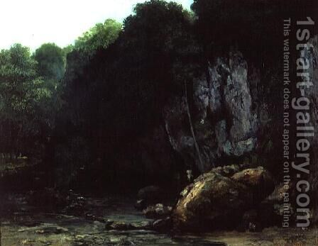 The Stream from the Black Cavern by Gustave Courbet - Reproduction Oil Painting