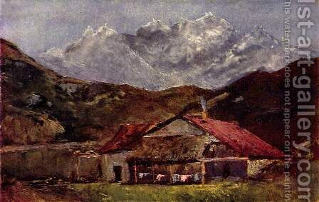 A Hut in the Mountains by Gustave Courbet - Reproduction Oil Painting