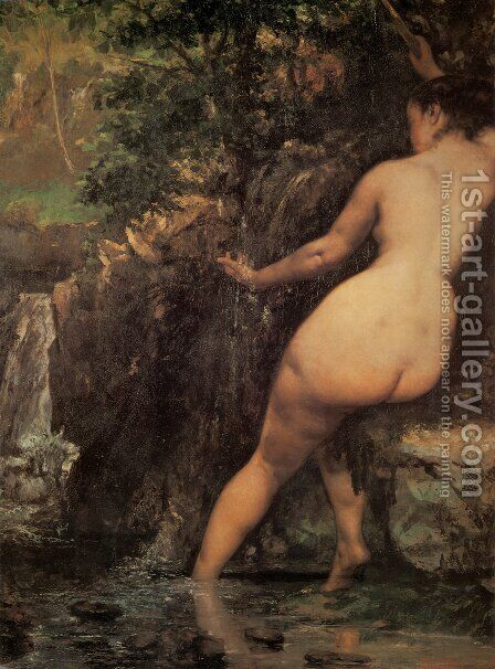 The Source or Bather at the Source, 1868 by Gustave Courbet - Reproduction Oil Painting