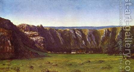 Rocky landscape near Flagey by Gustave Courbet - Reproduction Oil Painting