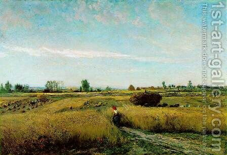 The Harvest, 1851 by Charles-Francois Daubigny - Reproduction Oil Painting