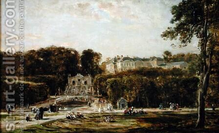 View of the Chateau de Saint-Cloud by Charles-Francois Daubigny - Reproduction Oil Painting