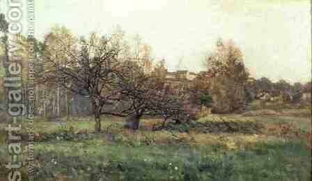Autumn Landscape by Charles-Francois Daubigny - Reproduction Oil Painting