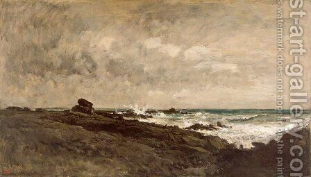 Seascape, c.1867 by Charles-Francois Daubigny - Reproduction Oil Painting