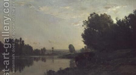 The Banks of the Oise, Morning, 1866 by Charles-Francois Daubigny - Reproduction Oil Painting