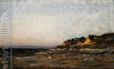 Villerville, Normandy, 1886 by Charles-Francois Daubigny - Reproduction Oil Painting