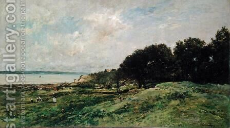 The Coast of Villerville, 1875 by Charles-Francois Daubigny - Reproduction Oil Painting