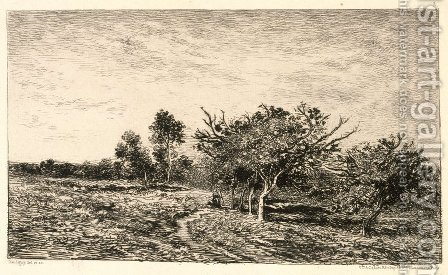 Apple Trees at Auvers (Pommiers a Auvers), 1877 by Charles-Francois Daubigny - Reproduction Oil Painting