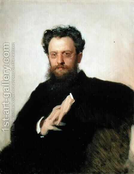 Portrait of Professor A. Prachov (1846-1916), 1879 by Ivan Nikolaevich Kramskoy - Reproduction Oil Painting