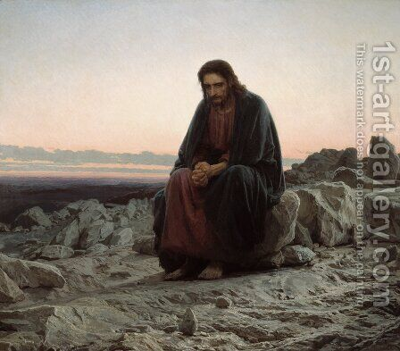 Christ in the Wilderness, 1873 by Ivan Nikolaevich Kramskoy - Reproduction Oil Painting