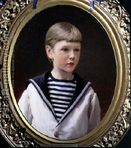 Portrait of a Boy, possibly Prince Anatoly Levin by Ivan Nikolaevich Kramskoy - Reproduction Oil Painting
