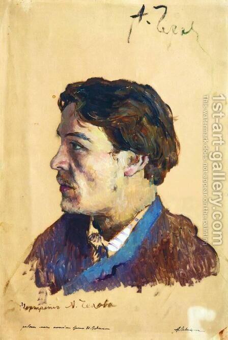 Portrait of Anton Chekhov (1860-1904) by Isaak Ilyich Levitan - Reproduction Oil Painting