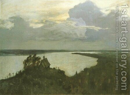 Above the Eternal Peace, 1894 by Isaak Ilyich Levitan - Reproduction Oil Painting