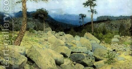 In the Crimean Mountains, 1886 by Isaak Ilyich Levitan - Reproduction Oil Painting