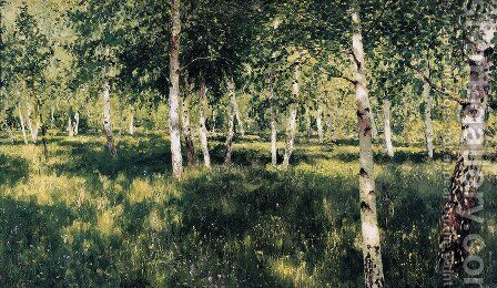 Birch Copse, 1889 by Isaak Ilyich Levitan - Reproduction Oil Painting