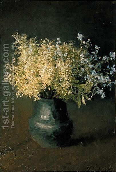 Wild Lilacs and Forget-Me-Nots, 1889 by Isaak Ilyich Levitan - Reproduction Oil Painting