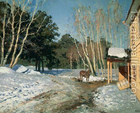 Winter Landscape, 1895 by Isaak Ilyich Levitan - Reproduction Oil Painting