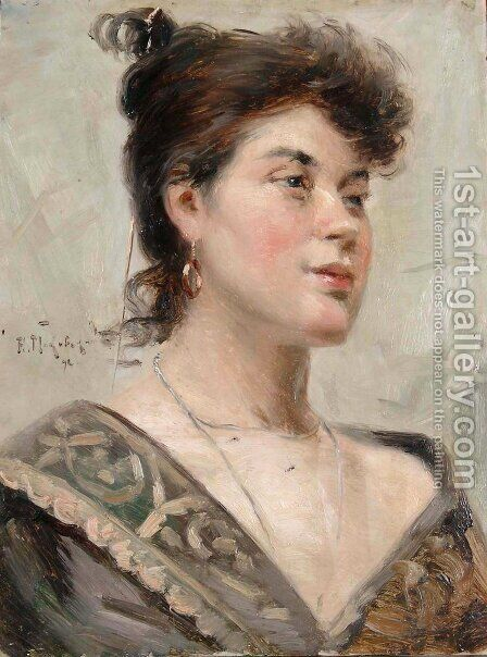 Woman, 1892 by Aleksandr Vladimirovich Makovsky - Reproduction Oil Painting