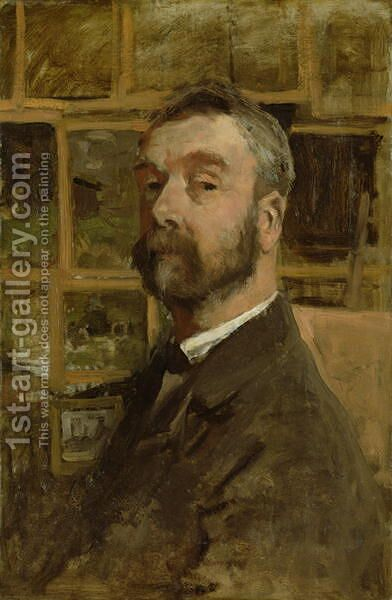 Self portrait, c.1884 by Anton Mauve - Reproduction Oil Painting