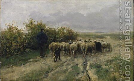 Returning Home, End of the Day by Anton Mauve - Reproduction Oil Painting