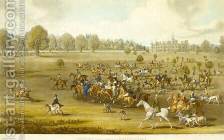Coursers taking the Field at Hatfield Park by James Pollard - Reproduction Oil Painting