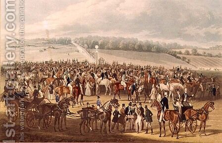 The Betting Post, Epsom, 1830 by James Pollard - Reproduction Oil Painting