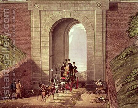 Highgate Tunnel by James Pollard - Reproduction Oil Painting