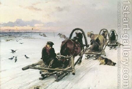 Empties, 1872 by Illarion Mikhailovich Prianishnikov - Reproduction Oil Painting