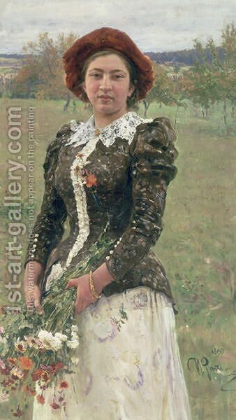 Spring Bouquet by Ilya Efimovich Efimovich Repin - Reproduction Oil Painting