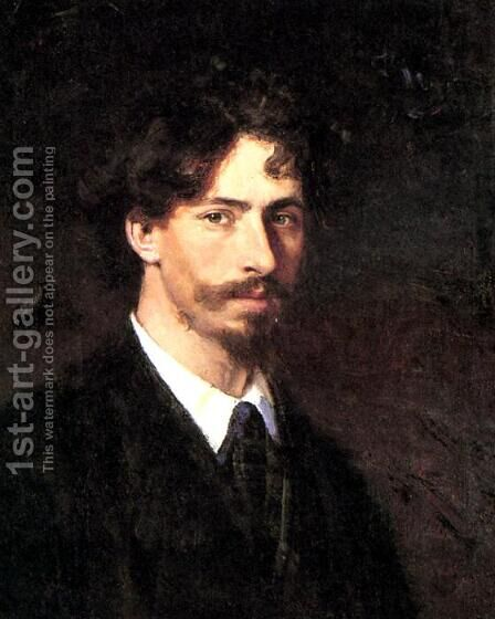 Self-portrait by Ilya Efimovich Efimovich Repin - Reproduction Oil Painting