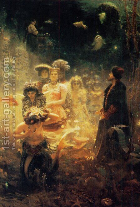 Sadko in the Underwater Kingdom 1876 by Ilya Efimovich Efimovich Repin - Reproduction Oil Painting