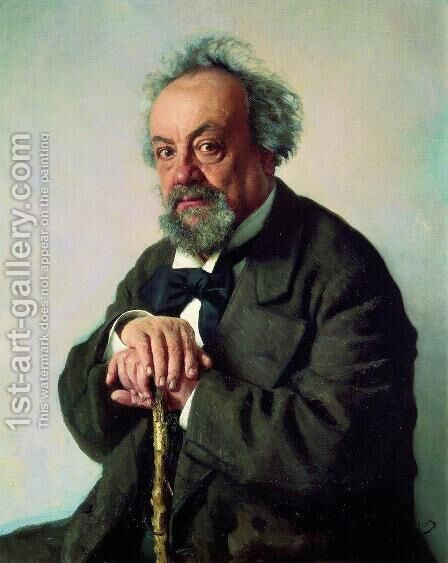 Aleksey Pisemsky by Ilya Efimovich Efimovich Repin - Reproduction Oil Painting