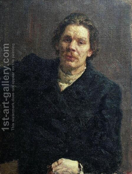Portrait of Maxim Gorky (Aleksai Maksimovich Peshkov) (1868-1936) 1899 by Ilya Efimovich Efimovich Repin - Reproduction Oil Painting