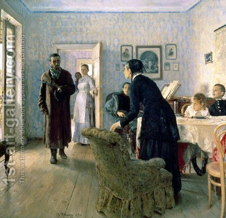Unexpected, 1884-88 by Ilya Efimovich Efimovich Repin - Reproduction Oil Painting