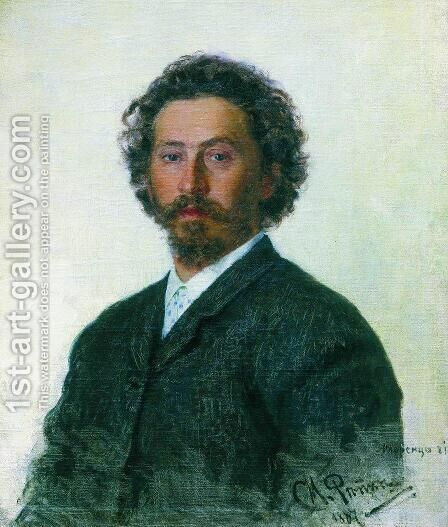 Self Portrait, 1887 by Ilya Efimovich Efimovich Repin - Reproduction Oil Painting