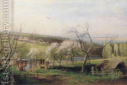 Rustic View (1867) by Alexei Kondratyevich Savrasov - Reproduction Oil Painting