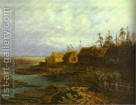 Rafts (1873) by Alexei Kondratyevich Savrasov - Reproduction Oil Painting